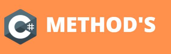 Methods in C#
