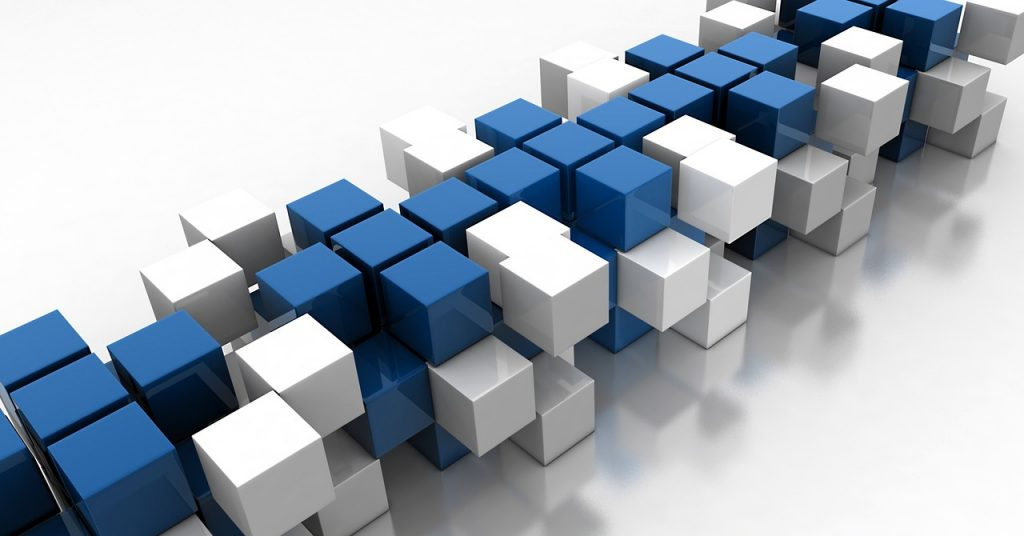 blue, cube, design