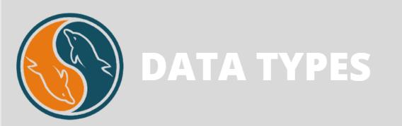 Data types in my sql