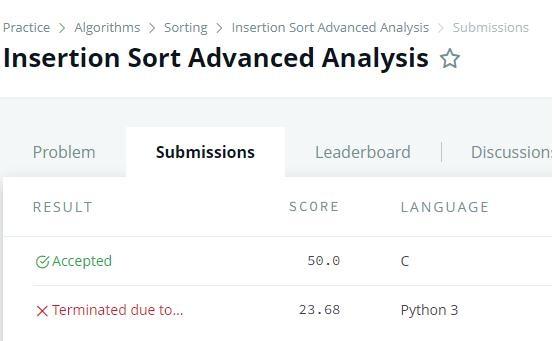 Insertion Sort advanced analysis.