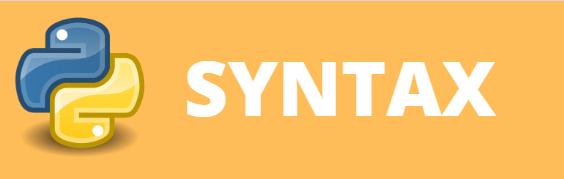 syntax in python