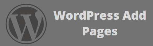 Add Pages in WordPress