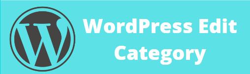 Edit Category in WordPress