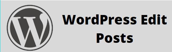 Edit Posts in a WordPress