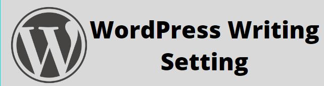 Writing Setting in WordPress
