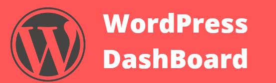 Dashboard of Wordpress